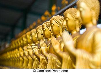 synhåll, av, buddha, staty, in, thailand