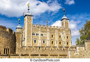synhåll, av, den, londons torn, -, england