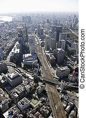synhåll, områden, station, antenn, tokyo