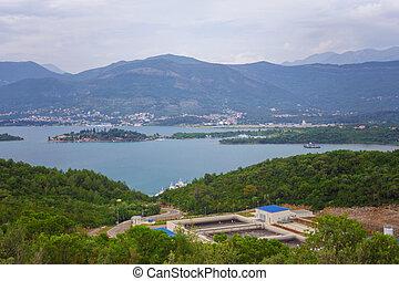 synhåll, på, kotor, vik, montenegro