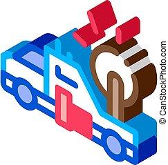 Synoptic Truck isometric icon vector illustration