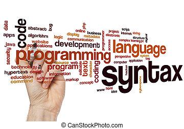 syntax, słowo, chmura