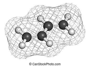 synthétique, bâtiment, butadiene, molecu, caoutchouc, (1, ...