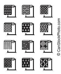 synthétique, bâtiment, surfaces