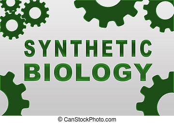 synthétique, biologie, concept