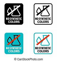 """synthétique, colors"""", produit, """"no, naturel"""