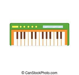 Synthesizer icon flat cartoon style. Isolated on a white background. Vector illustration