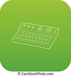 Synthesizer icon green vector