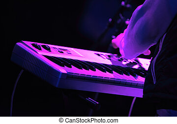 Synthesizer keyboard - Rock concert series: synthesizer...
