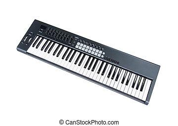 synthesizer, teclado, fader