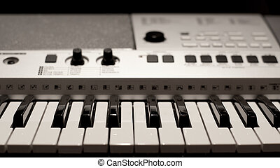 Synthesizer - The part of professional synthesizer keyboard,...
