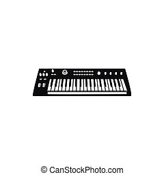 synthesizer, vector, illustratie