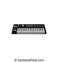 synthesizer, vetorial, ilustração