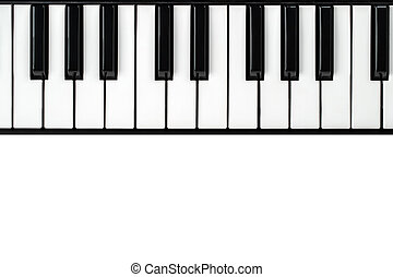 synthesizer, vit fond, tangentbord