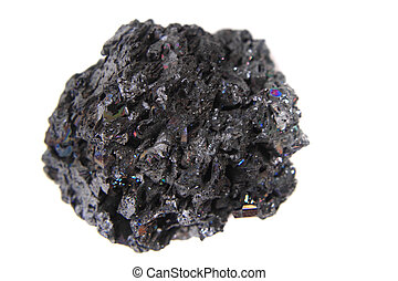 synthetic corundum mineral isolated on the white background