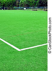 Synthetic Soccer or Footbal Field. Background and Texture...