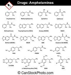 synthetisch, drogen, amphetamines, -, natürlich
