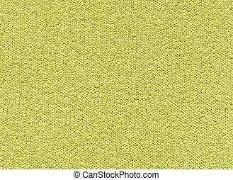 synthetisch, textuur, gele-groen, weefsel