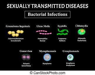 Syphilis, spirochaete, Treponema, Gonococcus, Gonorrhea, ...