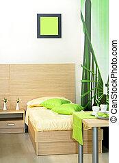 sypialnia, zielony