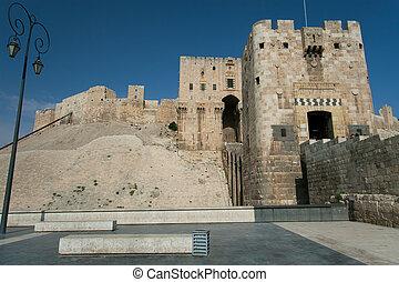 syrië, aleppo, citadel