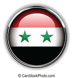Syria button - Syria flag button