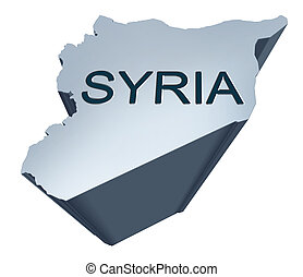 Syria Dimensional Map