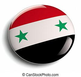 Syria flag design round badge.
