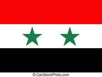 Syria flag - Illustration of the flag of Syria