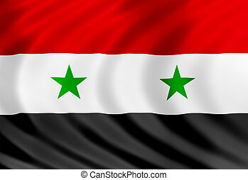 Syria flag of silk