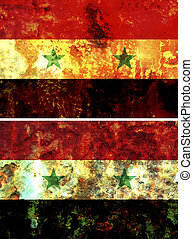 Syria flag - some very old grunge flag of Syria