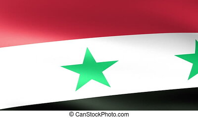 Syria Flag Waving