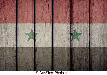 Syria Flag Wooden Fence