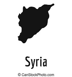 Syria map in black simple