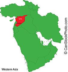 Syria map - Location of Uzbekistan on Western Asia