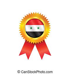 Syria medal flag