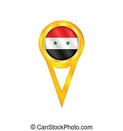 Syria pin flag