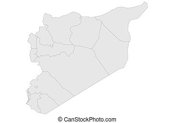 Syria political map vector illustration - Syria political ...