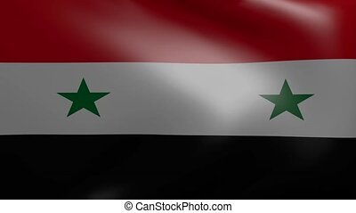 syria strong wind flag