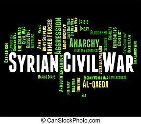 Syrian Civil War Meaning Bashar Al-Assad And Wordcloud