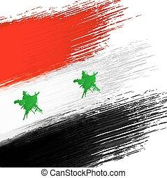 Syrian flag grunge background