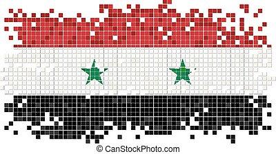 Syrian grunge tile flag. Vector