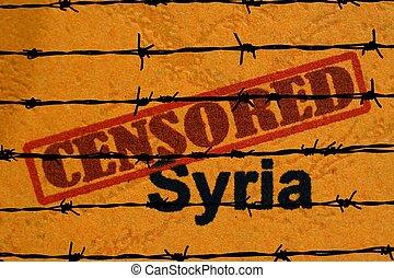 syrie, censuré