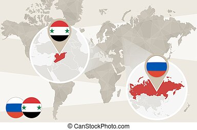 syrien, karta, zoom, ryssland, värld