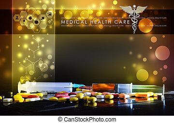 syringe and medicine