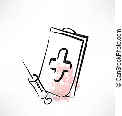 syringe grunge icon