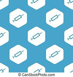 Syringe hexagon pattern