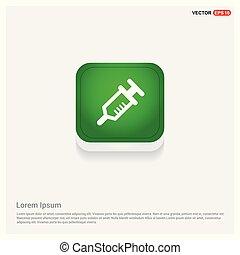 syringe icon Green Web Button