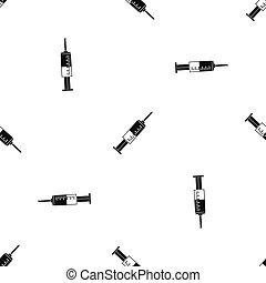 Syringe pattern seamless black