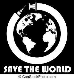 Syringe rolls around the world